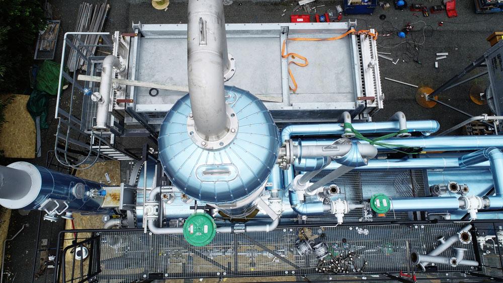 Inspection en phase de fabrication d'une centrale gaz.