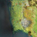 Un bien étrange monde que celui de l'estran. Un monde entre air, terre et mer. Un triskell, un triptyque. Le bleu foncé de l'eau s'associe au monde végétal d'un vert clair.