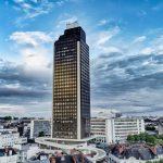 Prise de vue aérienne diffusée sur Instagram depuis notre compte. On y voit la tour de Bretagne, quelques jours avant sa fermeture pour quelques années pour raisons de désamiantage
