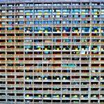 Densité de logements dans la maison radieuse en périphérie de Nantes.